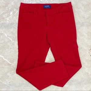 Old Navy Pixie Mid Rise Red Ankle Pants Size 6 R
